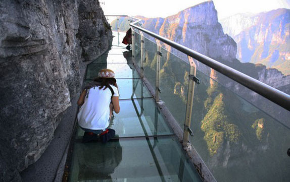 Glass Skywalk of Tianmen Mountain