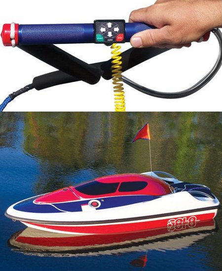 self controlled tow boat hammacher