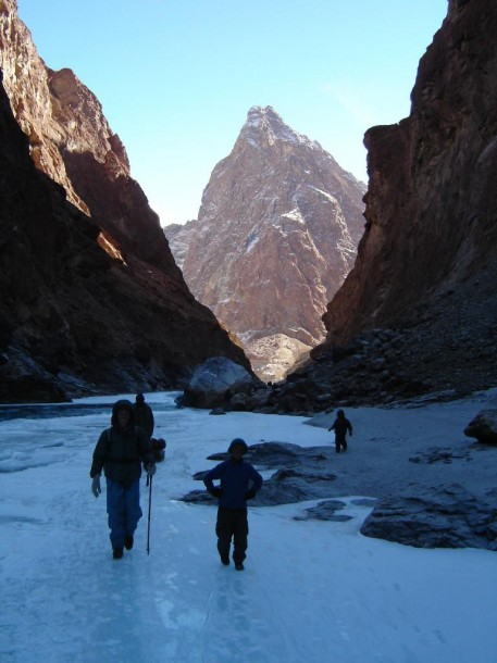 Chadar Trek - sheet of ice