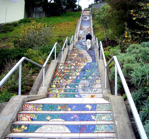 16th avenue mosaic staircase san francisco