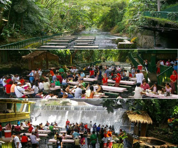 waterfalls restaurant villa escudero philippines
